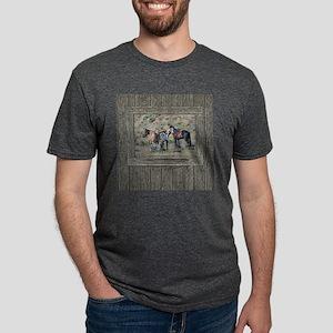 Old window horses 3 Mens Tri-blend T-Shirt