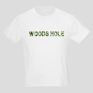 Woods Hole, Vintage Camo, Kids Light T-Shirt