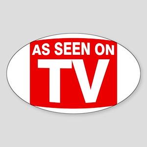 As Seen on TV Oval Sticker