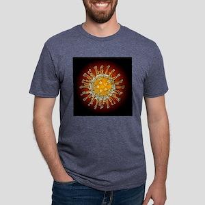 Avian influenza virus, comp Mens Tri-blend T-Shirt