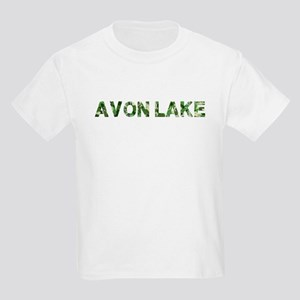 Avon Lake, Vintage Camo, Kids Light T-Shirt