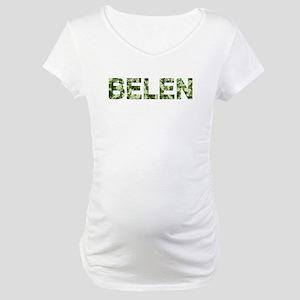 Belen, Vintage Camo, Maternity T-Shirt
