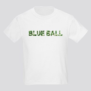 Blue Ball, Vintage Camo, Kids Light T-Shirt