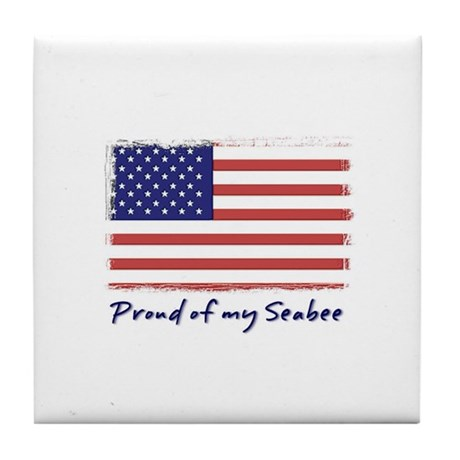 Proud of my Seabee (American Tile Coaster