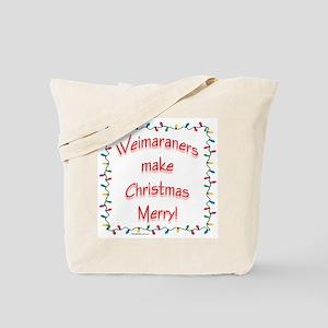 Merry Weimaraner Tote Bag