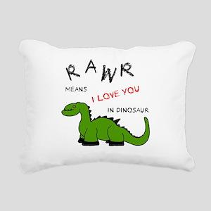 DinoRawr Rectangular Canvas Pillow