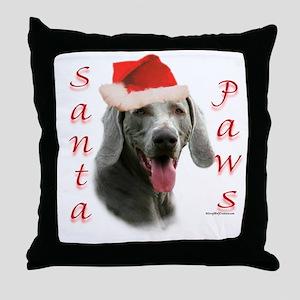 Santa Paws Weimaraner Throw Pillow