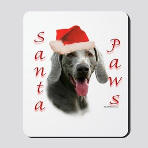 Santa Paws Weimaraner Mousepad