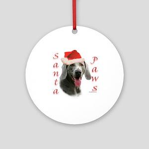 Santa Paws Weimaraner Ornament (Round)