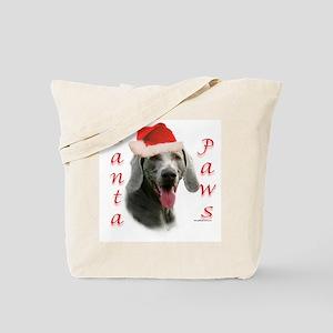 Santa Paws Weimaraner Tote Bag
