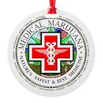 Medical Marijuana Round Ornament