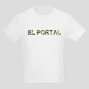 El Portal, Vintage Camo, Kids Light T-Shirt