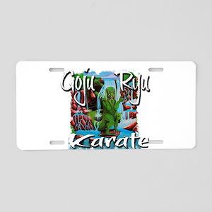 Goju Ryu Karate Dragon design Aluminum License Pla