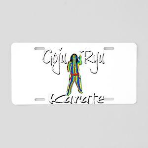 Goju Ryu Karate Splash Design Aluminum License Pla
