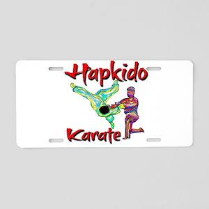 Hapkido Karate Splash design Aluminum License Plat