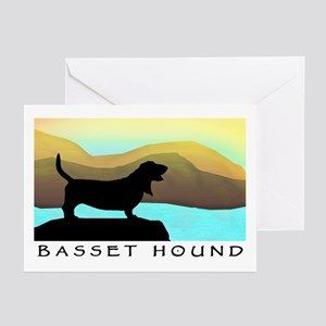 Basset Hound By The Sea Greeting Cards (Pk of 10)