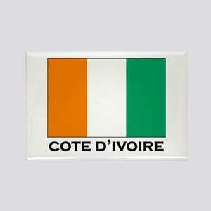 Cote D'Ivoire Flag Stuff Rectangle Magnet
