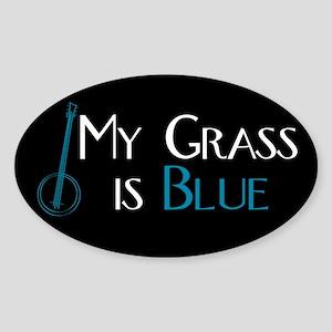 My Grass is Blue Rectangle Sticker