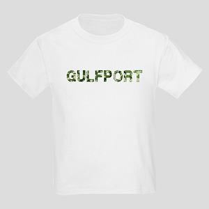 Gulfport, Vintage Camo, Kids Light T-Shirt