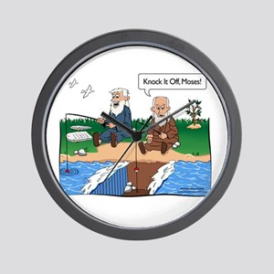 Fishing With Moses Wall Clock