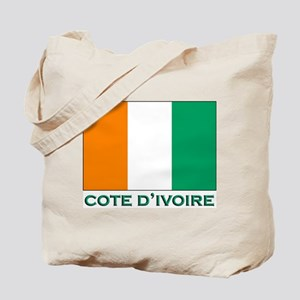 Cote D'Ivoire Flag Gear Tote Bag