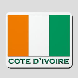 Cote D'Ivoire Flag Gear Mousepad