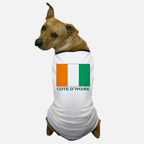 Cote D'Ivoire Flag Gear Dog T-Shirt