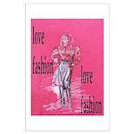 Fashion model design Large Poster