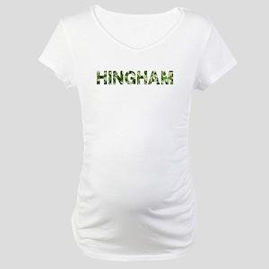 Hingham, Vintage Camo, Maternity T-Shirt