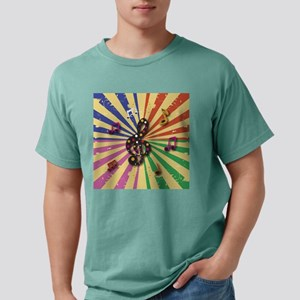 Retro Musical Notes on S Mens Comfort Colors Shirt