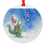 Winter Wizard Round Ornament