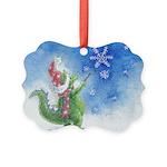Winter Wizard Picture Ornament