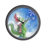 Winter Wizard Wall Clock