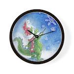 Winter Wizard Wall Clock