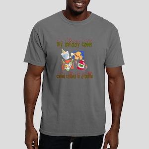 Holiday Cheer Back - Bla Mens Comfort Colors Shirt