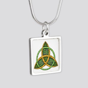 Celtic Trinity Knot Silver Square Necklace