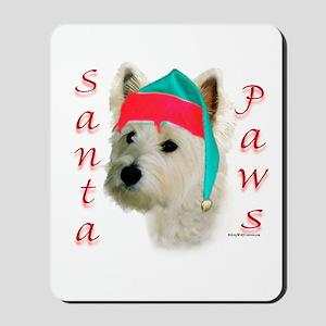 Santa Paws Westie Mousepad