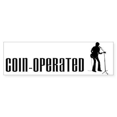 Coin-Operated Musician Boy Bumper Sticker
