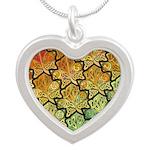 Celtic Leaf Tesselation Silver Heart Necklace