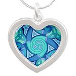 Celtic Planet Silver Heart Necklace