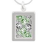 Celtic Knotwork Puzzle Square Silver Portrait Neck
