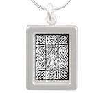 Celtic Knot Bare Branche Silver Portrait Necklace