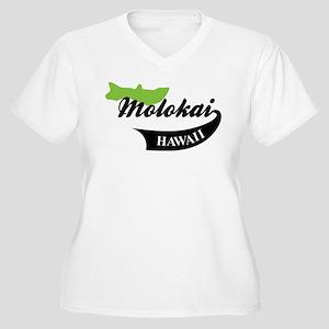Molokai Hawaii Women's Plus Size V-Neck T-Shirt
