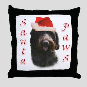 Santa Paws Wirehaired Throw Pillow