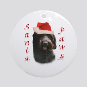 Santa Paws Wirehaired Ornament (Round)
