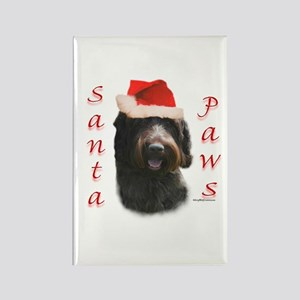 Santa Paws Wirehaired Rectangle Magnet