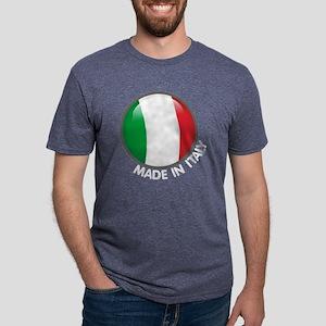 MadeInItalyBlackTrans Mens Tri-blend T-Shirt
