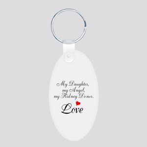 My Daughter,my Angel Aluminum Oval Keychain