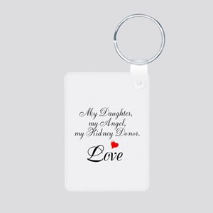 My Daughter,my Angel Aluminum Photo Keychain