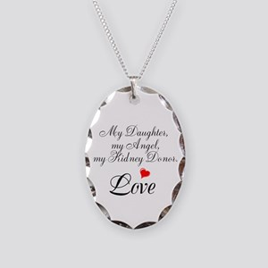 My Daughter,my Angel Necklace Oval Charm